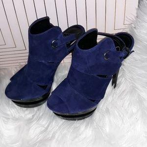 Jessica Simpson Blue Suede Platefom Heels